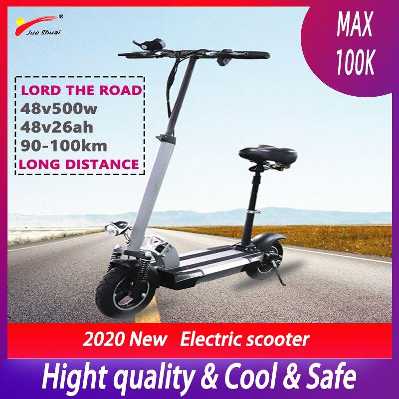 Patinete eléctrico de larga distancia para Adulto, 100km, 500W, 48V, 26ah, batería...