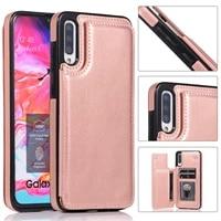 Custodia per Samsung Galaxy A71 A51 A30 A21 A50 A11 A21S A81 A91 M10 custodia a portafoglio in pelle di lusso slot per schede Flip Shell antiurto