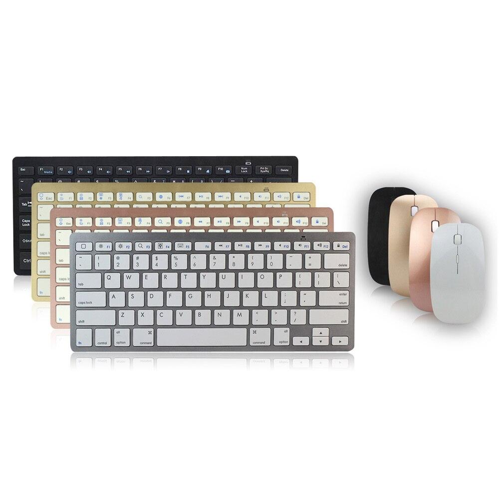 لوحة المفاتيح اللاسلكية 2.4G الماوس مجموعة مقص قدم بلوتوث رقيقة جدا كتم الصوت