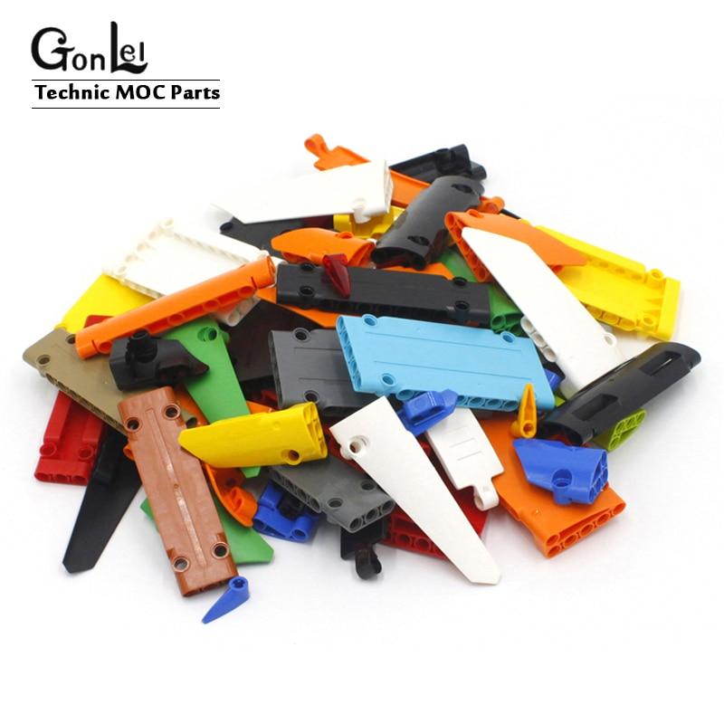 200Grams/Lot Technic Panel Fairing Flat Panel Plate Truck MOC Building Blocks Brick Bulk set  64782 15458 64393 6468 DIY Toys