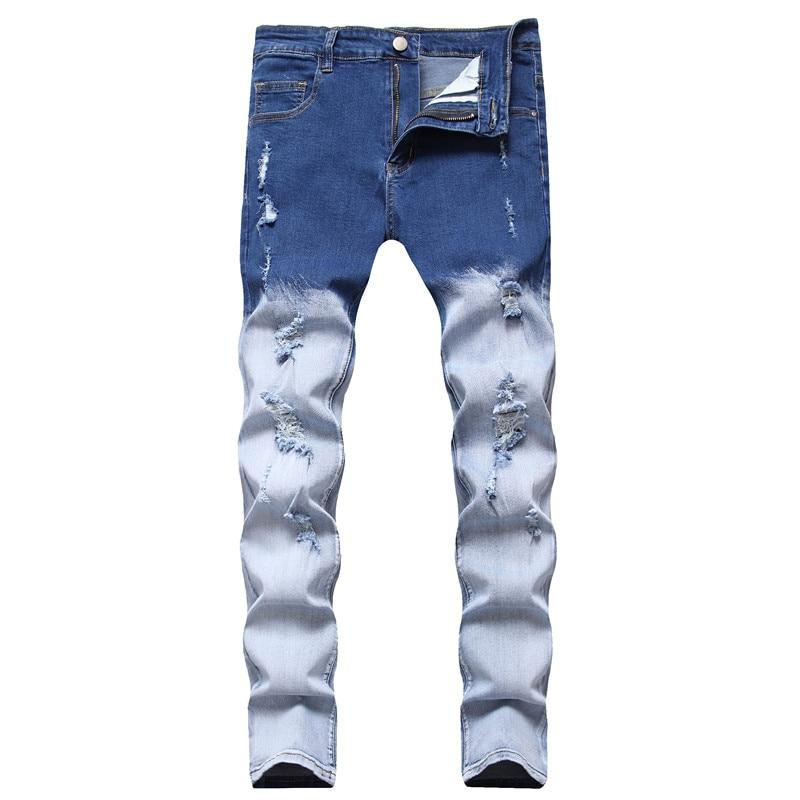 2021 New European&American Street Fashion Brand Men's Casual Jeans Comfortable&Versatile Men's Fashion Casual Straight-Leg Jeans