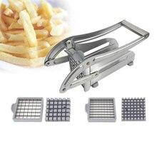 Picadora de patatas fritas de acero inoxidable, cortador de verduras y patatas fritas, cortador de patatas fritas, rebanador