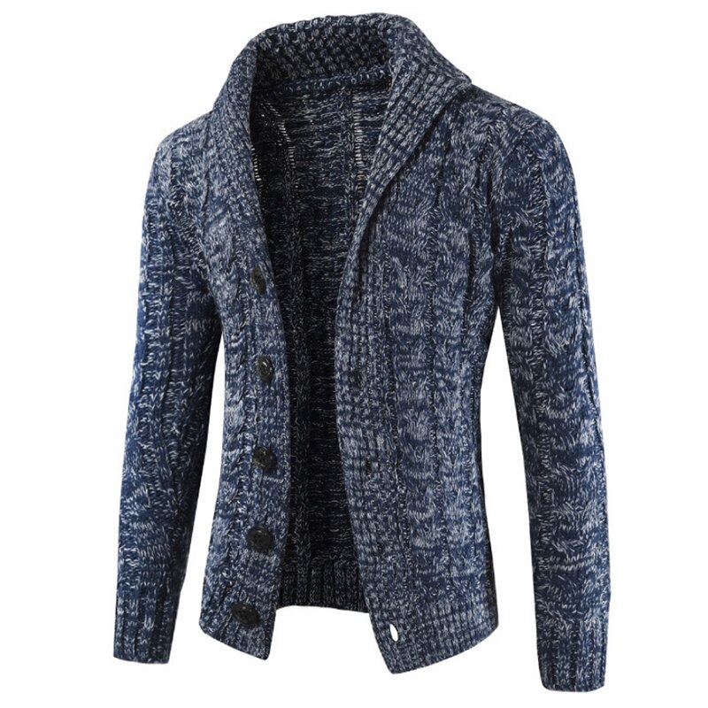 2019 New Casual Sweater fall Loose fashion Jacket with Thicker Knitted Colorblock Cardigan Knit clothes