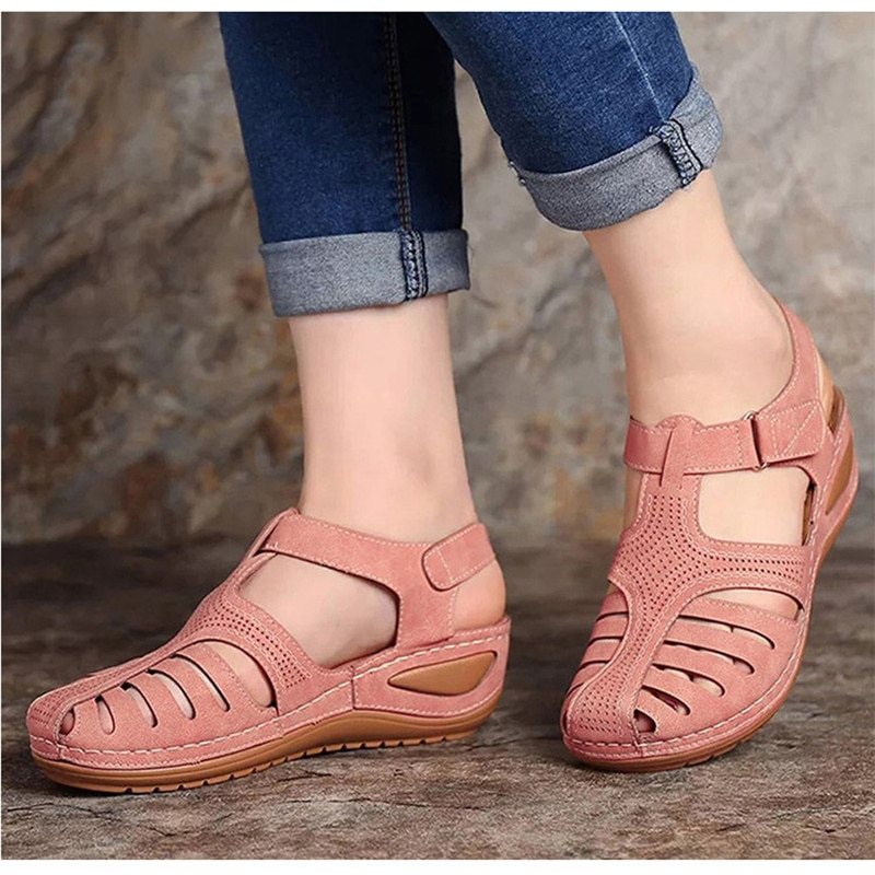 Women Sandals New Summer Shoes Woman Plus Size 44 Heels Sandals For Wedges Chaussure Femme Casual Gl