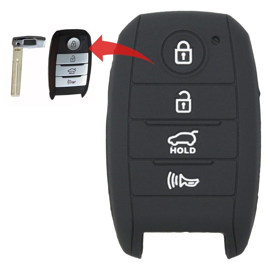 MICOCHE 4 botones de silicona funda inteligente para llave de coche para KIA Squeak K5 2014, 2015 de 2016 K3 k3S K4 Optima Sportage Rio Sorento