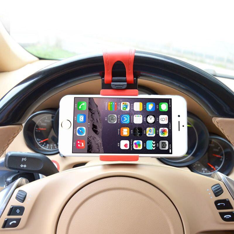 Universal suporte do telefone do carro volante clipe de montagem titular para o iphone 11 pro max x xr xs max 5 6 7 8 para samsung s8 s9 s10