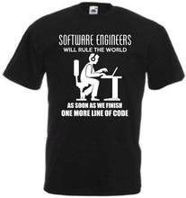 Funny software engineer t shirt rule the world joke gift computer coding f4b
