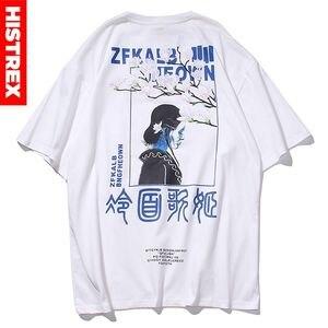 Histrex Embroidery Japan Harajuku Men T Shirt Mens Tee Summer Short Sleeve High Quality Tshirt Hip Hop High Qu Tshirt Man MN175#