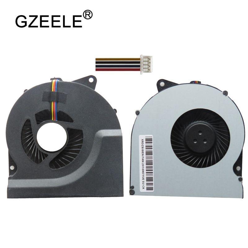 GZEELE Nueva cpu ventilador de refrigeración para ASUS N53S N53 N53JF N73JN N53J K73E N75SN N75SL portátil cpu ventilador portátil Cpu ventilador de 4 líneas