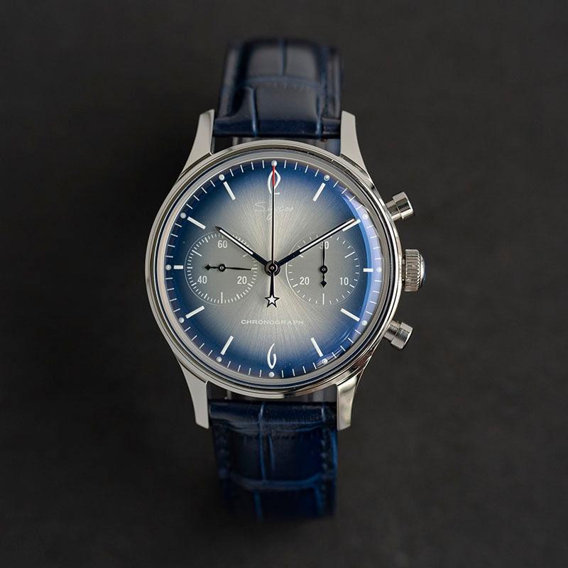 حقًا seagull ST1901-ساعة يد رجالية ، مضيئة ، مقاومة للماء ، كرونوغراف ، لف يدوي ، مع غطاء زجاجي