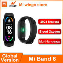 Глобальная версия Xiaomi Mi Band 6 спортивный браслет сердечного ритма фитнес-трекер Bluetooth 1,56