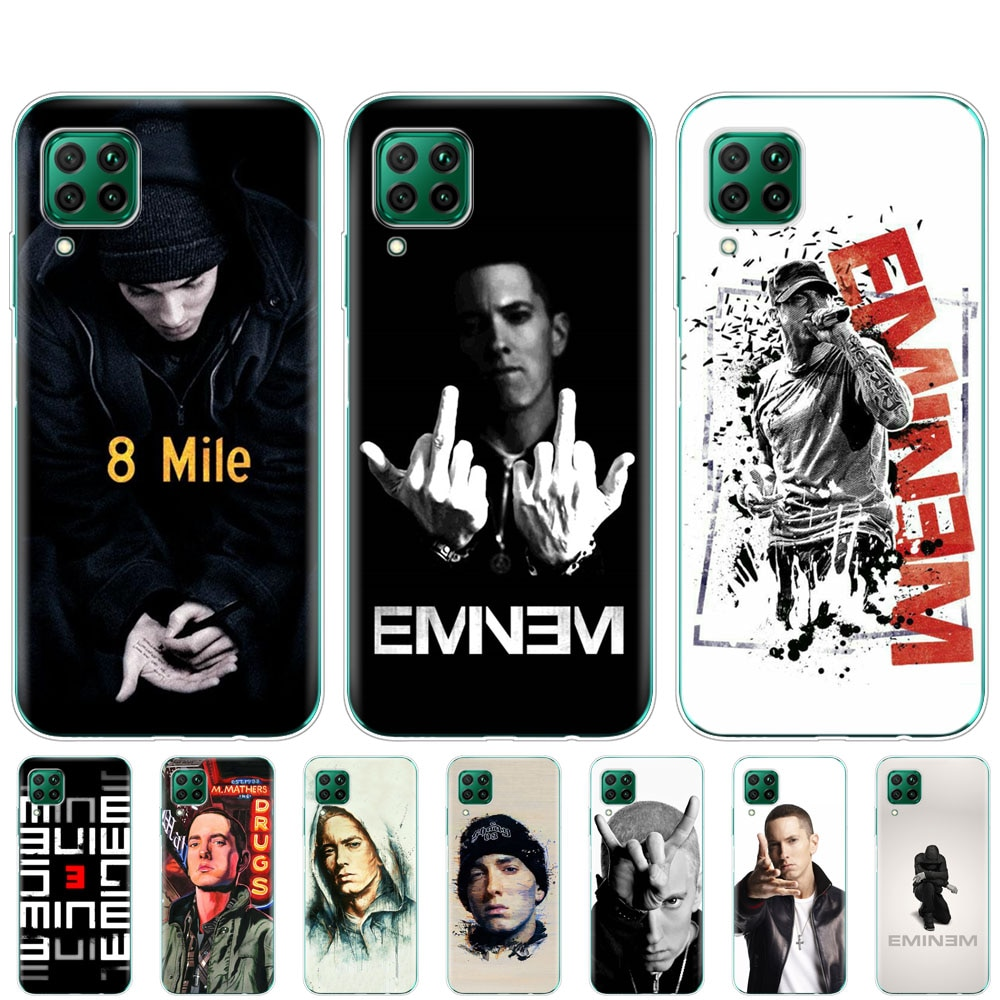Caso huawei p40 lite E p40 pro P smart 2020 para huawei Y5P Y6P Y7P Y8P Y6S Y9S NOVA 5 caso Hip Hop rapero Eminem rap