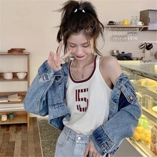 Retro Chic Hong Kong Style Vest Women's Summer Outdoor Fashion Ins Harajuku BF Style Student Short S