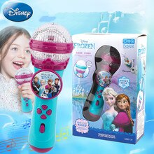 Disney Kid Toys Frozen 2 Elsa Anna Children Singing Microphone Public Music Main Microphone Amplifier Baby K Song Girl Toy