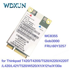 Sierra MC8355 GOBI3000 GPS 3G HSPA EVDO WWAN Carte Sans Fil pour Lenovo Thinkpad X220 T420 T520 X230 T430 T530 W520 W530 60Y3257