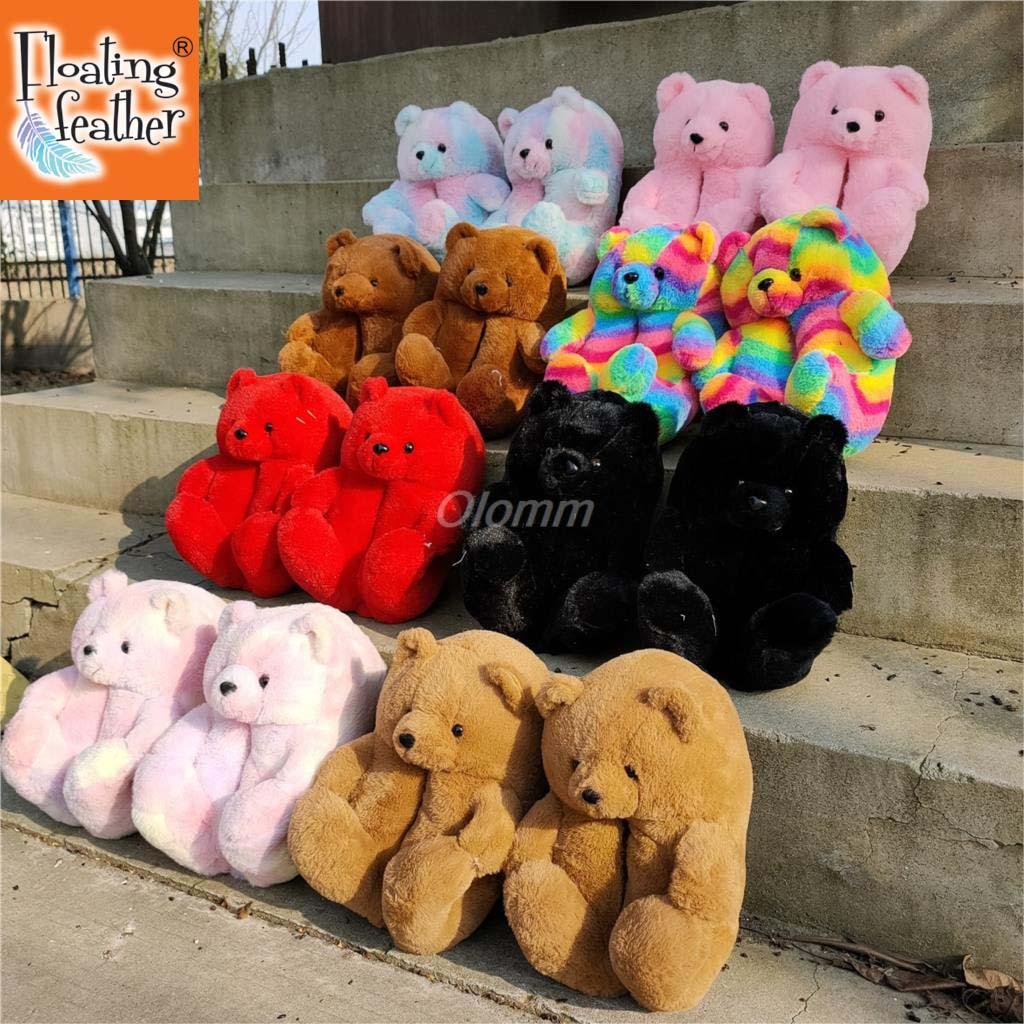 Зимние тапочки, женские теплые домашние тапочки, Женская милая розовая обувь, женские домашние тапочки, теплые домашние тапочки больших раз...
