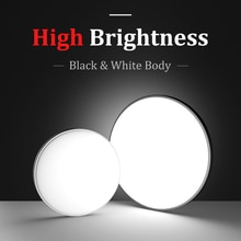 Luces de techo Ultra brillantes, luz de techo Led de 220V para sala de estar, lámpara de techo de 12W 24W, accesorios de iluminación para dormitorio vatio Real