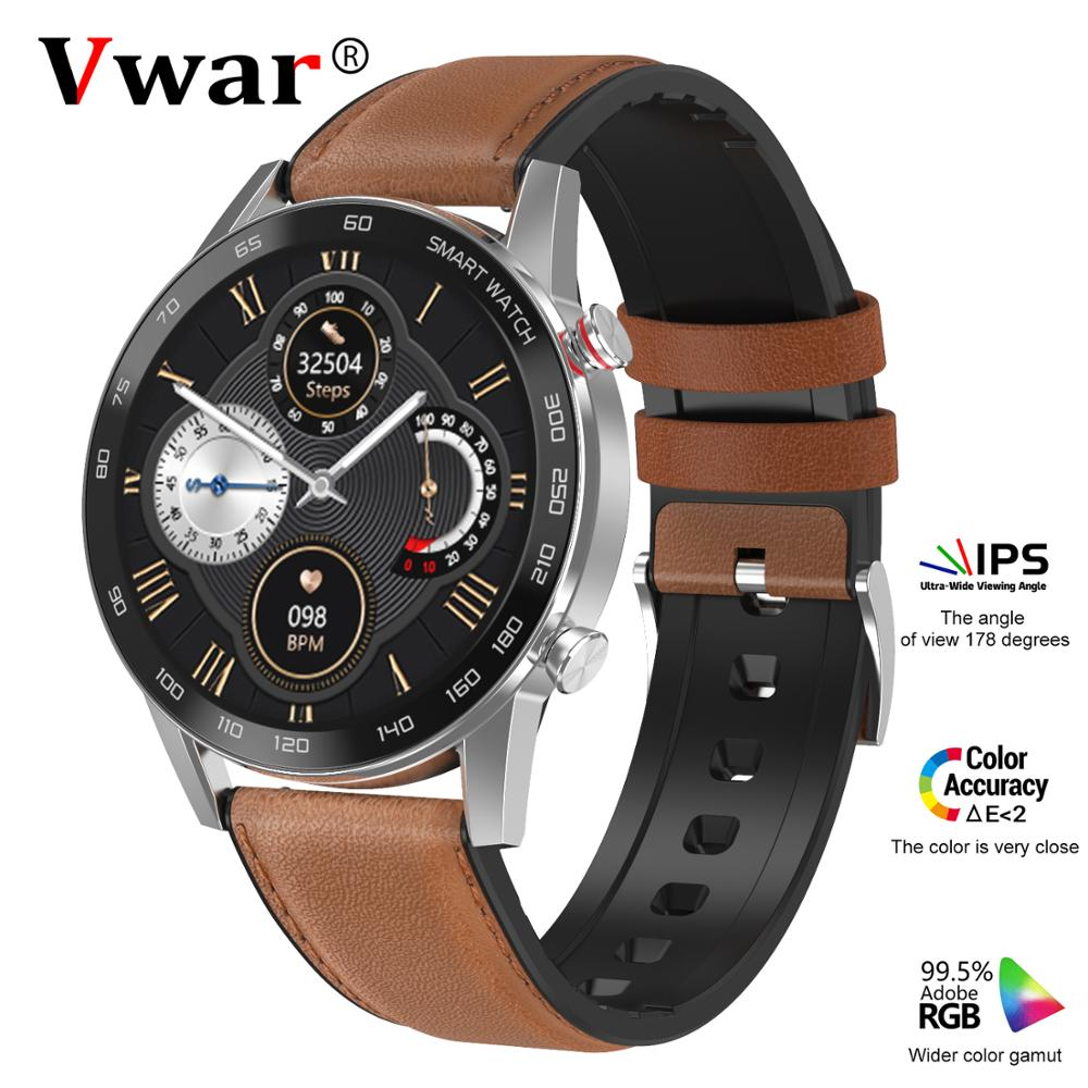 Vwar tendance 5 Bluetooth appel ECG PPG 360*360 HD écran IP68 étanche Fitness Tracker pression artérielle oxygène sport Smartwatch