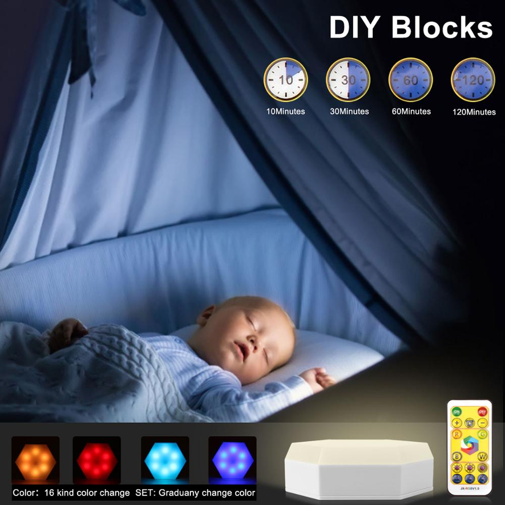 Lámpara LED de armario regulable, con Sensor táctil blanco RGB, luz de cocina con Control remoto y batería alimentada por luces de armario