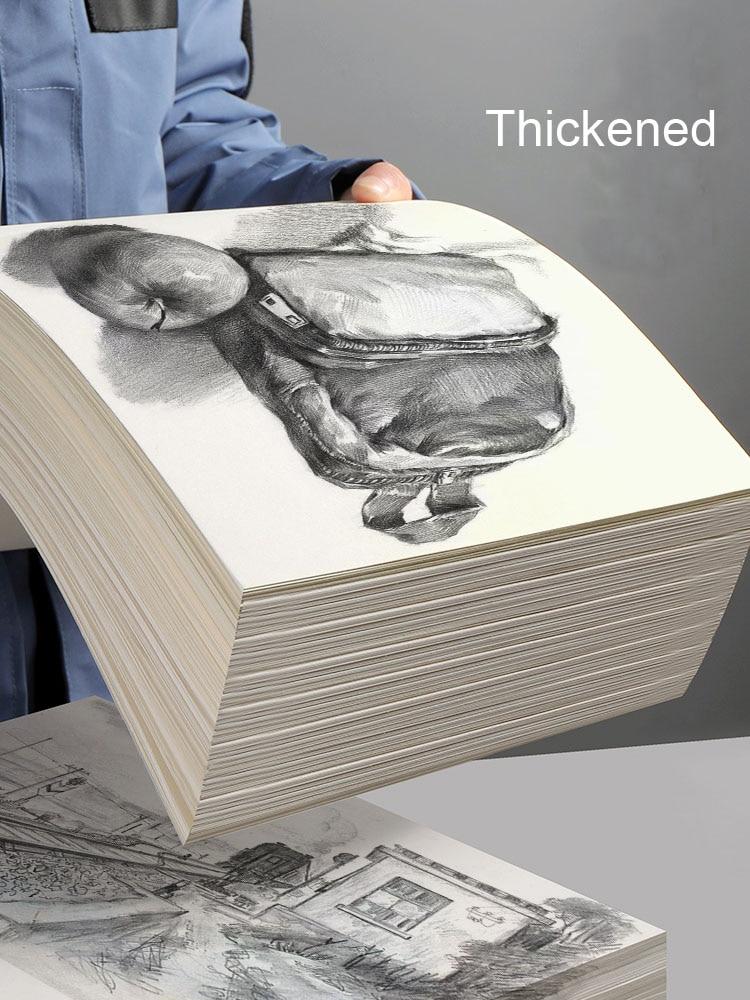 60 листов эскиз Бумага 8K акварель Бумага бумага для гуаши Бумага конкретные рисунок Бумага арт студенческие утепленные экзамен 4K Пустой Бум...