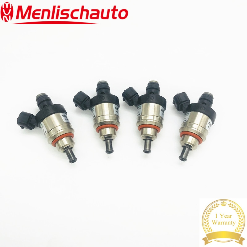 4PCS 100% Engine Fuel Injector 110R-004686 E8 H2000 67R010213 ECER 9D20 Hana Red H2001 type B 1.9 ohm H 2001 Socket