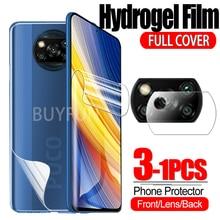 For Xiaomi Poco X3 Pro Hydrogel Film Camera Glass On Xiomi Poco X3 NFC X3NFC X3Pro M3 F3 Safety Film