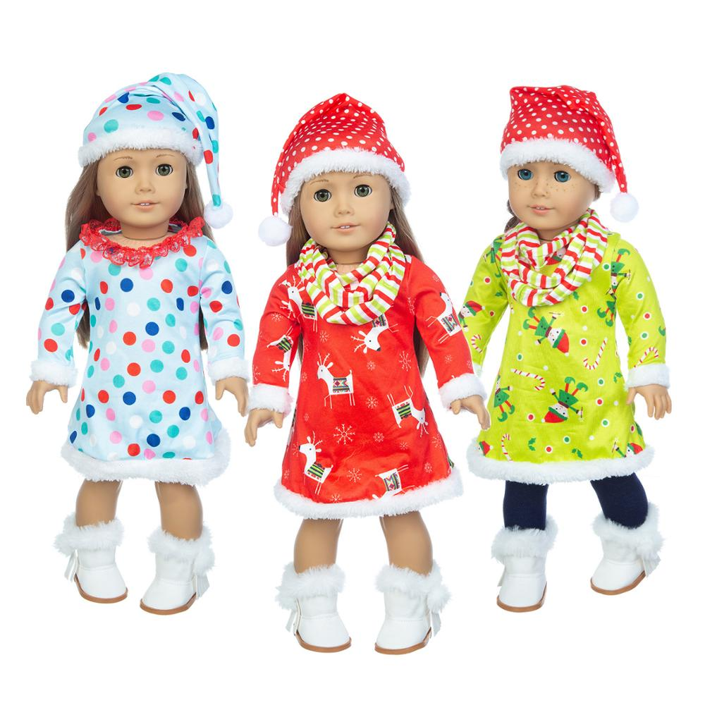 2020 Christmas suit Fit For American Girl Doll 18 Inch Doll Clothes , Shoes are not included.