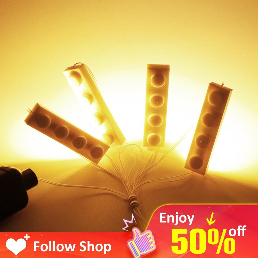 Novelty 4 In 1 LED Light Kits For Any Toy Block Building City Street Novelty lighting Block Creator House DIY Child Gift