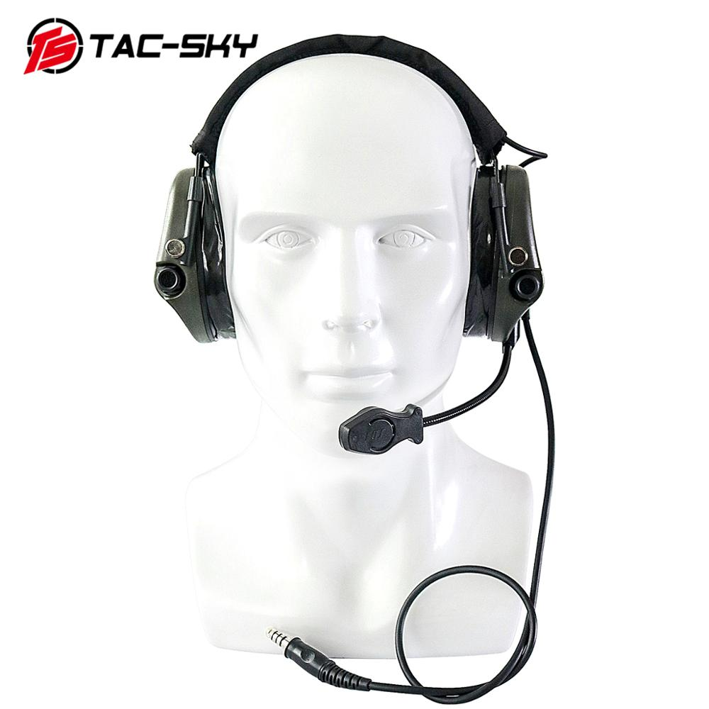 TAC-SKY TEA Hi-Threat Tier 1Silicone Earmuffs Edition Military Hearing Defense Noise Reduction Pickup Shooting Tactical headset