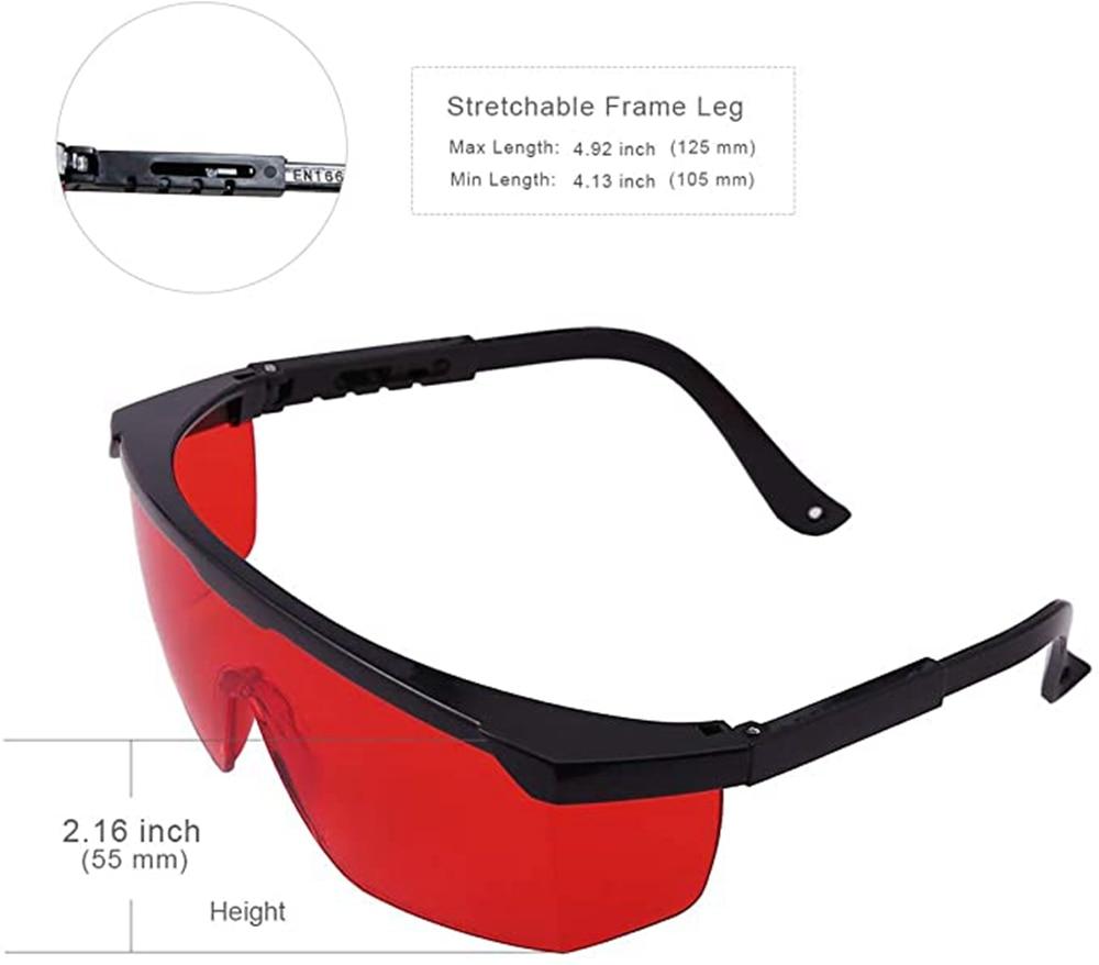 190 нм-540 нм лазер защитный очки очки безопасность очки для 450 нм 532 нм синий зеленый лазер глаза защита