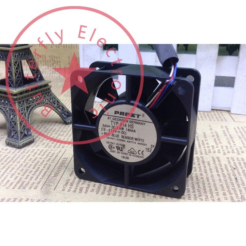 Brand New Typ 614 Hs 24V 3.5W 140MA 6Cm Inverter Koelventilator Koeler 6025 60*60*25Mm