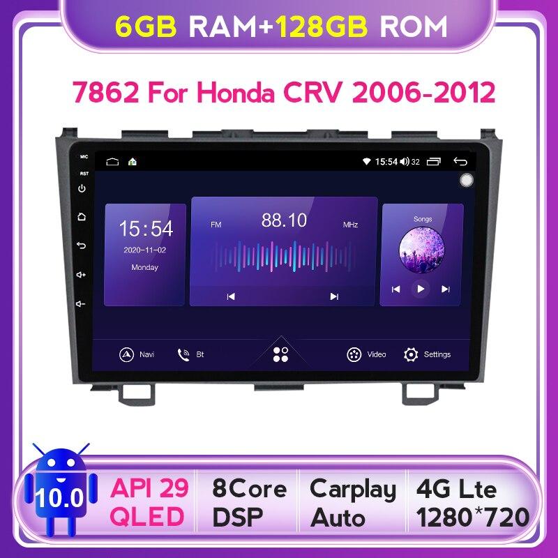 Mekede QLED экран 1280*720 Android 10,0 для Honda CRV CR - V 3 RE 2006 - 2012 Автомагнитола мультимедийный Видеоплейер навигация GPS