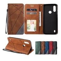 luxury skin leather case for motorola moto e7 plus e6s e 2020 g8 power lite g9 play g 5g plus one fusion wallet flip back cover