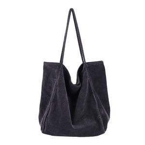 Winter New Women Suede Tote Bag Casual Large Capacity Soft Handbags Light Shoulder Bag