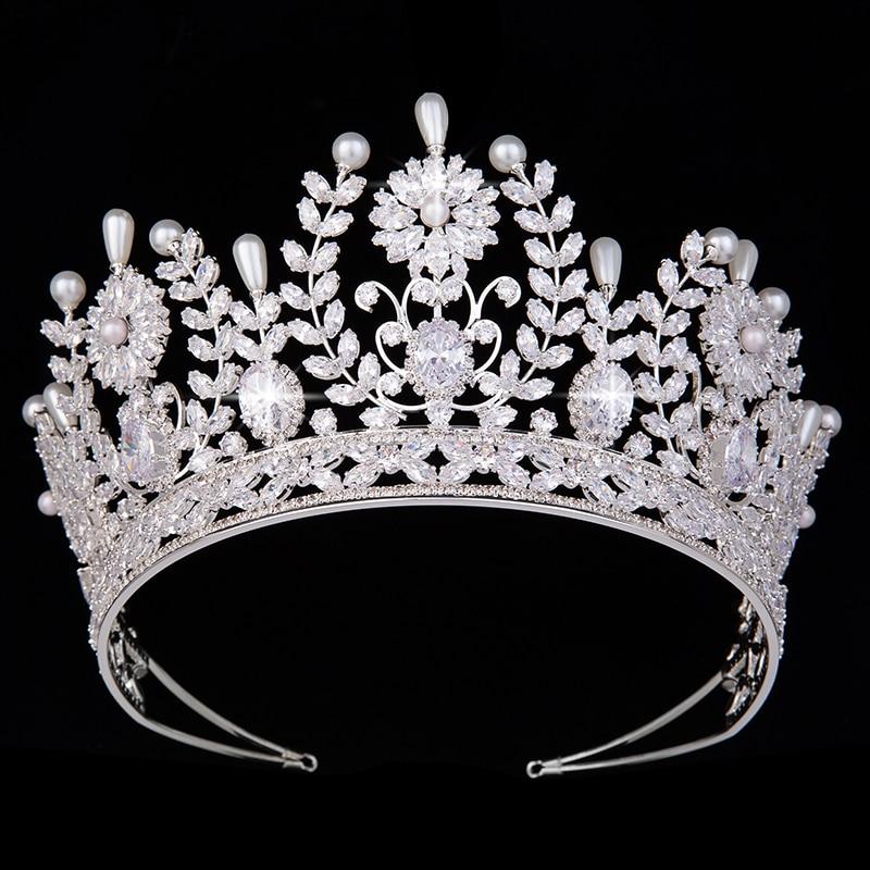 Tiaras And Crowns HADIYANA Fashion Elegant Design Bridal Wedding Party Headdress For Women With Zircon BC5185 Corona Princesa