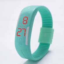2021 Candy Color Men's Women's Watch Rubber LED Kids Watches Date Bracelet Digital Sports Wristwatch
