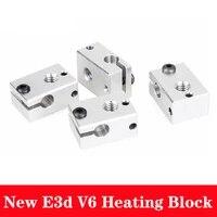 1pcs aluminum v6 heater block hotend for pt100 sensor cartridge themocouplethermistor for 3d printer extruder hot end parts kit