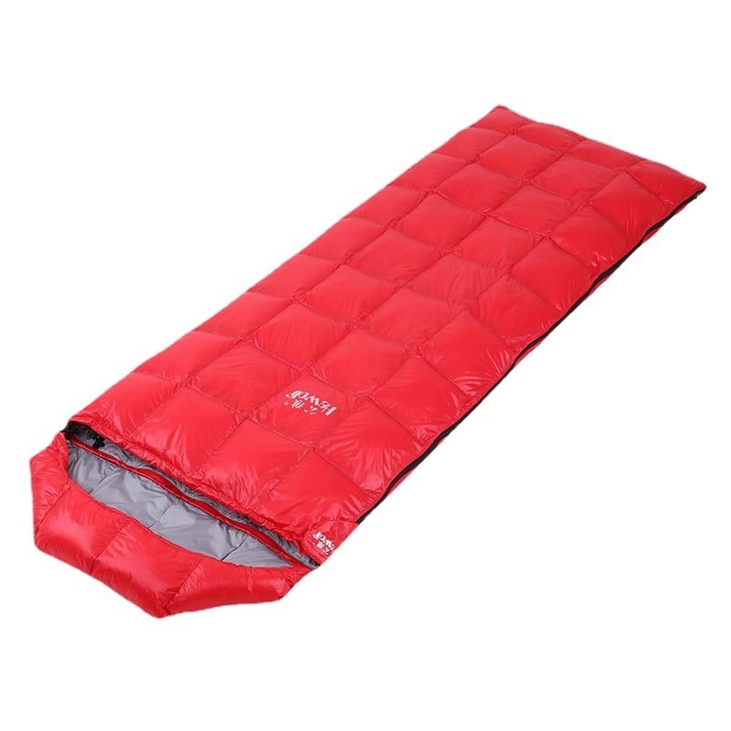 Adult Camping Sleeping Bag Envelope Down-Filled Sleeping Bag Outdoor Hiking Fishing Traveling Aco De Dormir Camping Equipment