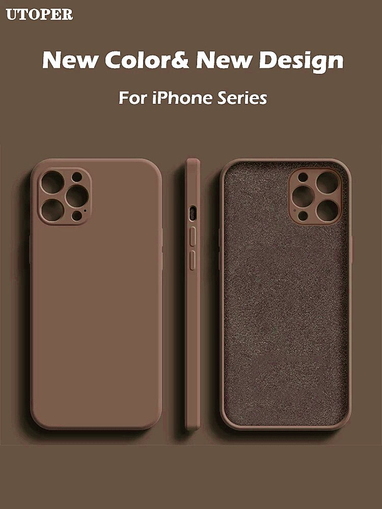 2021 Square Liquid Silicone Case For iPhone 11 12 Pro Max Mini X XR XS MAX 7 8 PLUS SE 2020 Cover Full Protector funda coque