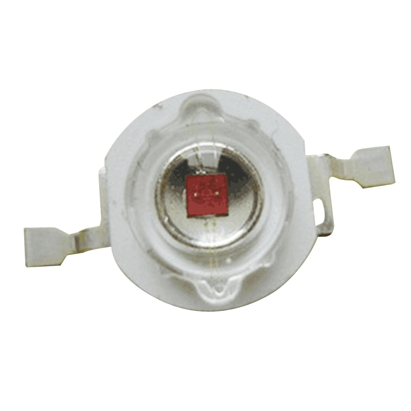 LED Lamp Bead 100pcs 660nm High Power Plant Grow Light Crimson 1W 2W 3W BULB
