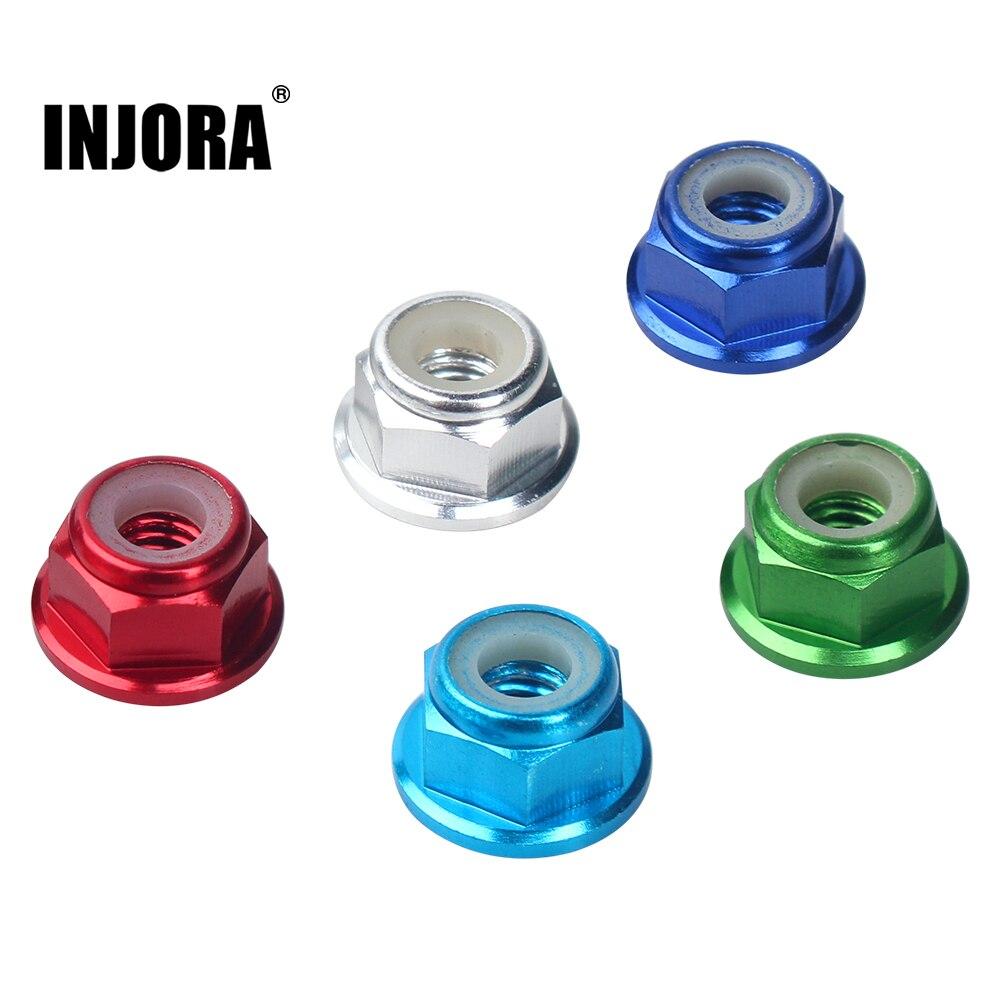 INJORA M4 металлическая 4 мм гайка для колес для 1/10 радиоуправляемого автомобиля, гусеничного Traxxas TRX4, осевого SCX10 90046 D90 Slash 2wd SCTE 4x4