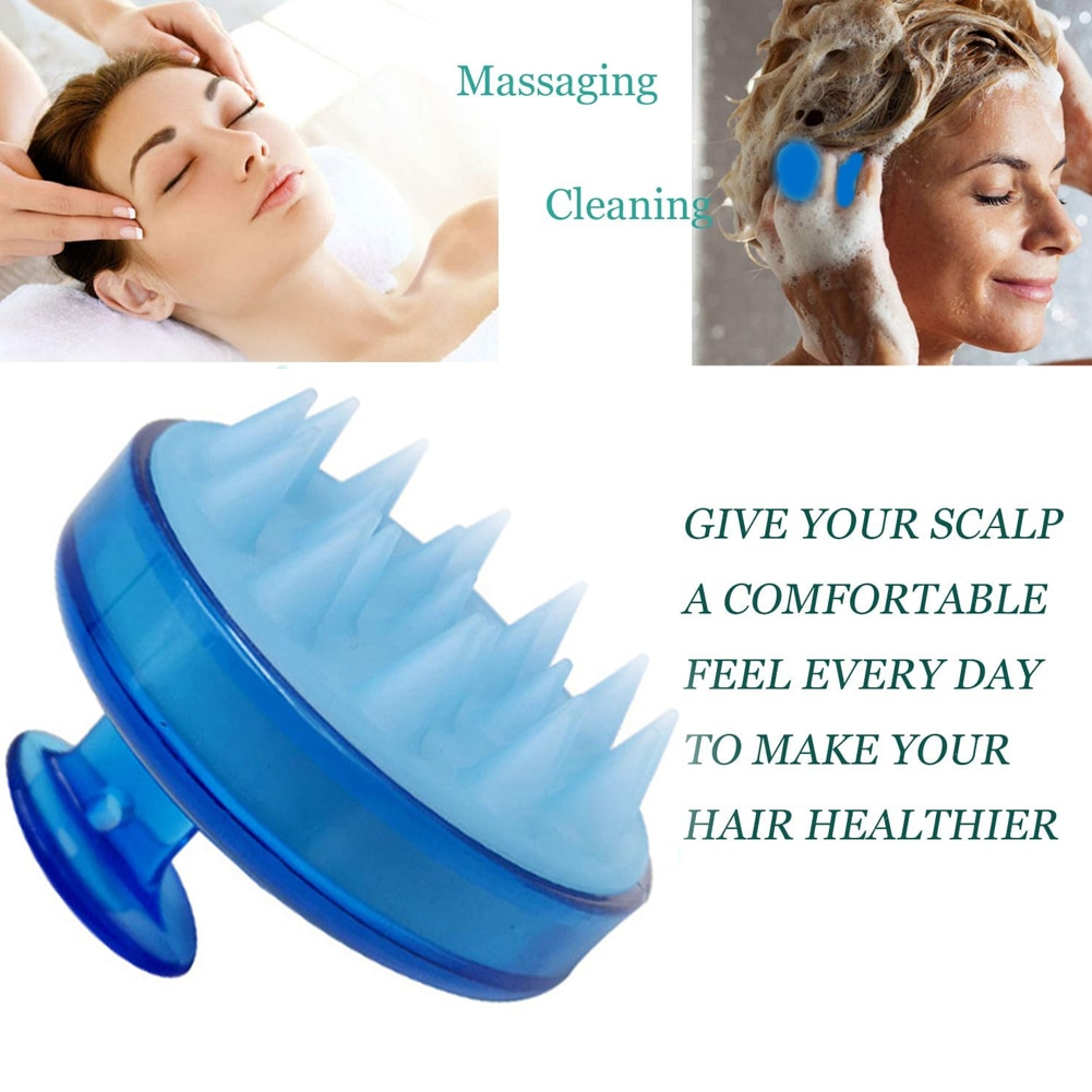 Hair Scalp Massager Silicone Hair Brush Shampoo Brush Comb Head Spa Slimming Massage Body Hair Washi