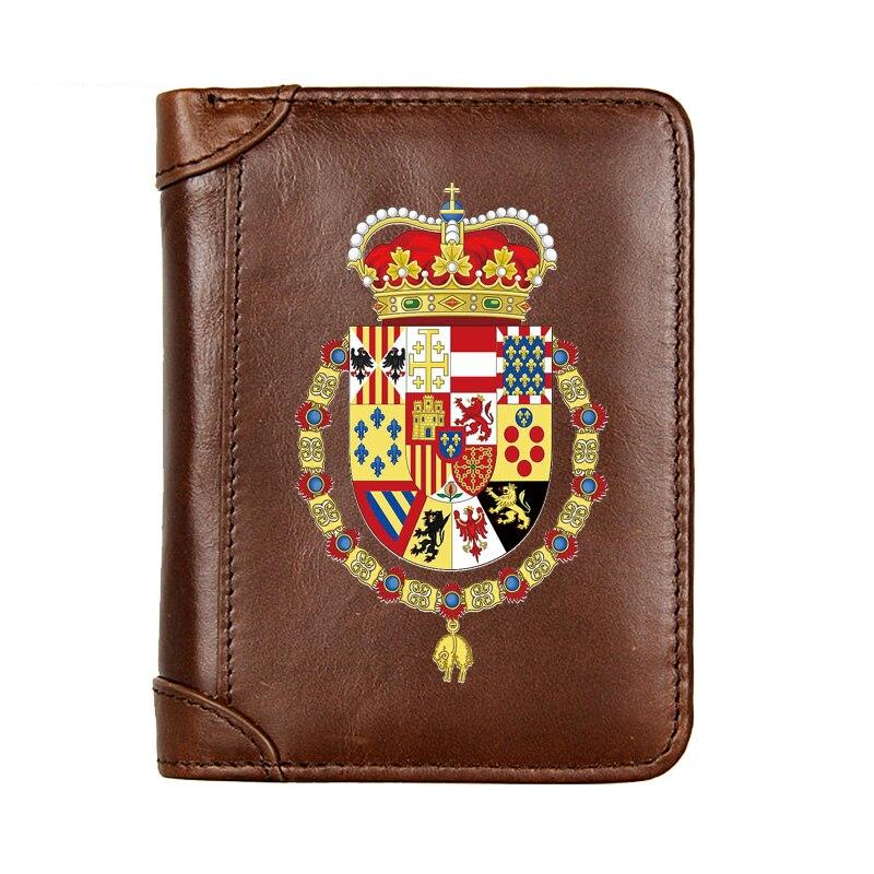 Мужской короткий кошелек из натуральной кожи, многофункциональный мужской бумажник из воловьей кожи с кармашком для мелочи, фото