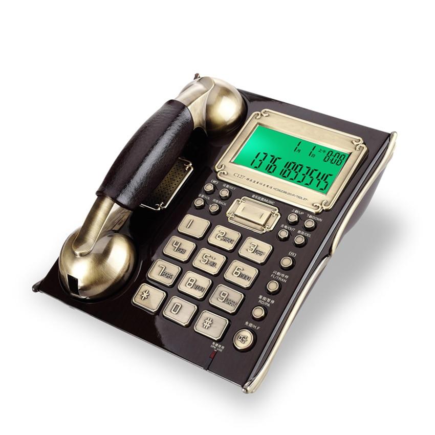 الهاتف حبالي مع معرف المتصل ، وظيفة ساعة تنبيه ، الاتصال السري الأوروبي العتيقة الهاتف الثابت الثابت للمنزل