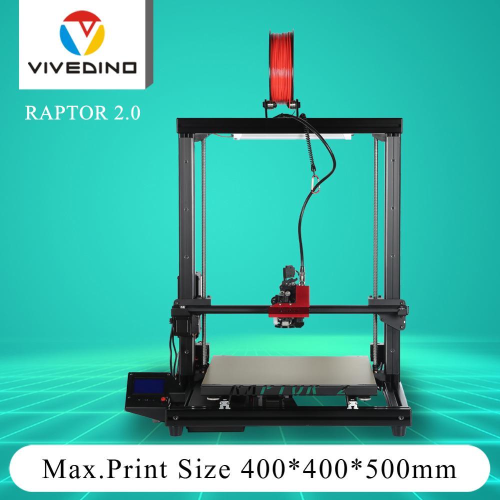 Impresora com Sistema de Luz 2 + Impressora Vivedino Raptor 400*400*500mm 3d Fdm Led