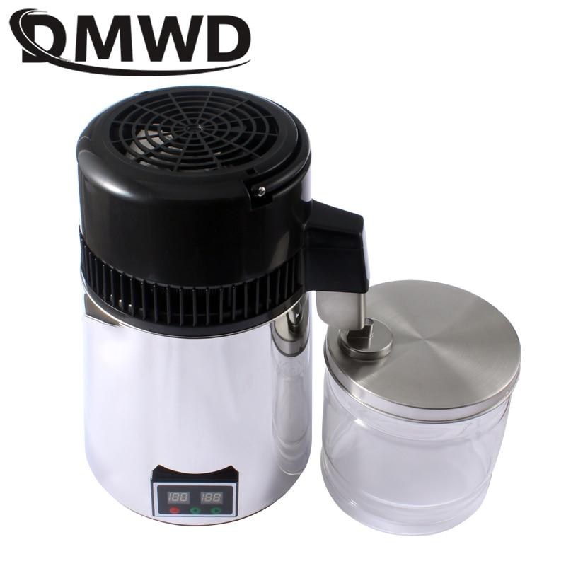 110V/220V Water Distiller 4L Stainless Steel Liner Adjustable Temperature Digital Control Distilled Purified Machine Dispenser