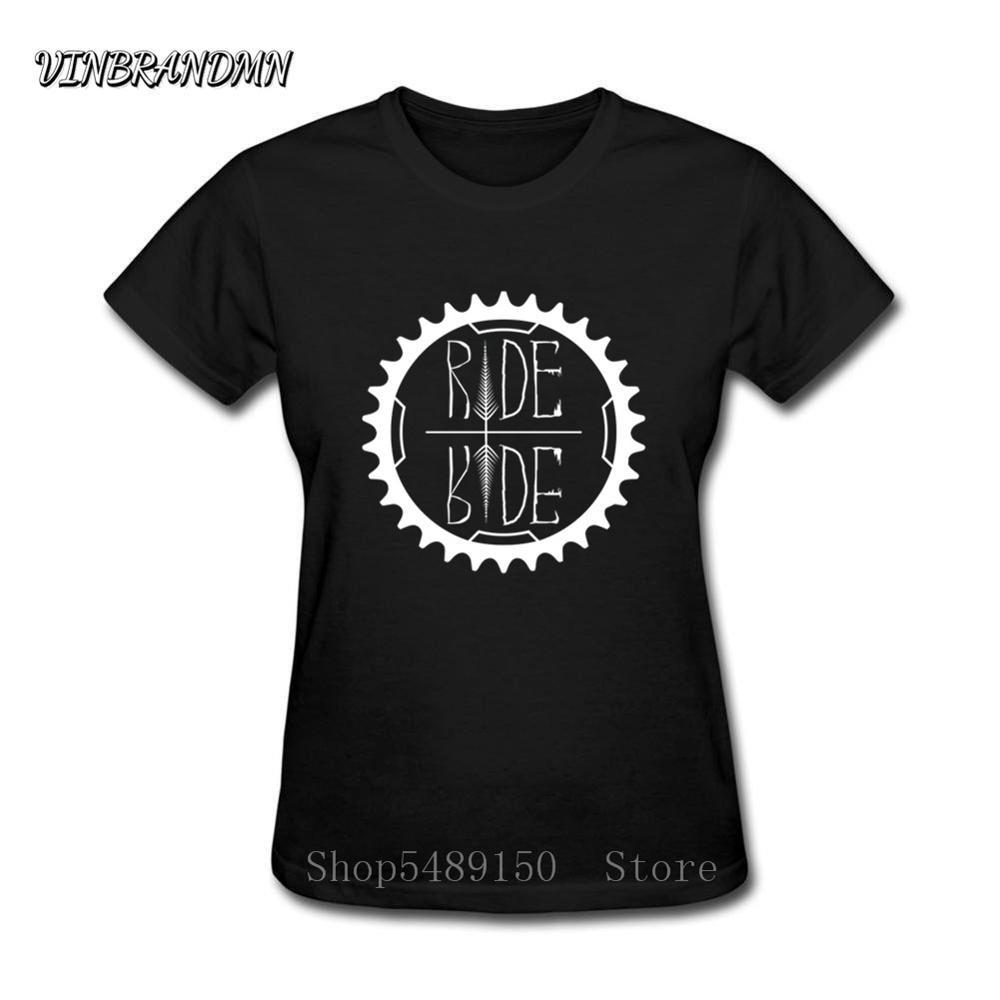Marca MTB Ride ropa bicicletas Logo mujer camiseta montaña Ciclismo MTB camiseta personalizada motocicleta motor paseo rápido o morir camisetas