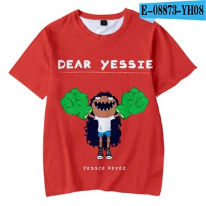 3-12 years Funny Cute 3D Print T-Shirt Jessie Reyez Children's Clothes Boy/girl Kids Short Sleeve Canadian Female Casual Tops