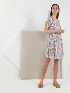 Colins Woman Regular Fit Off White Dress,CL1049207