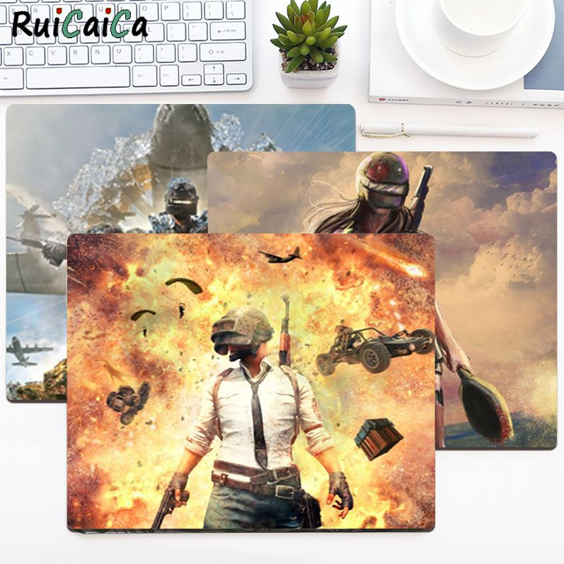 RuiCaiCa Simple Design PUBG Beautiful Anime Mouse Mat Smooth Writing Pad Desktops Mate gaming mouse pad maiya funny tie dye customized mousepads computer laptop anime mouse mat smooth writing pad desktops mate gaming mouse pad